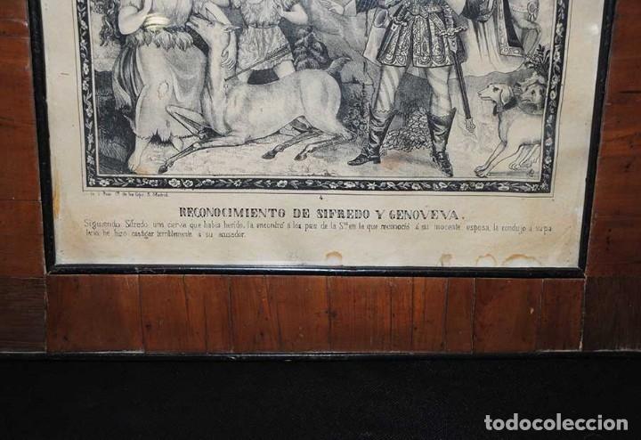 Arte: LÁMINA ANTIGUA RELIGIOSA CON MARCO DE MADERA - Foto 4 - 176719819