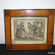 Arte: LÁMINA ANTIGUA RELIGIOSA CON MARCO DE MADERA. Lote 176719854