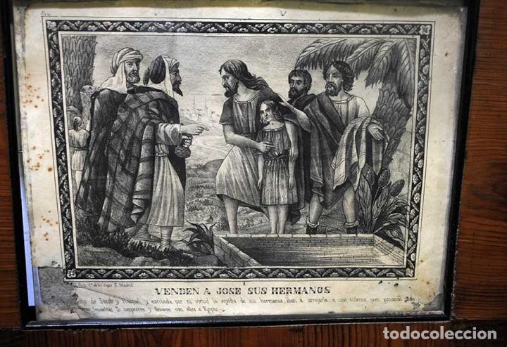 Arte: LÁMINA ANTIGUA RELIGIOSA CON MARCO DE MADERA - Foto 2 - 176719854