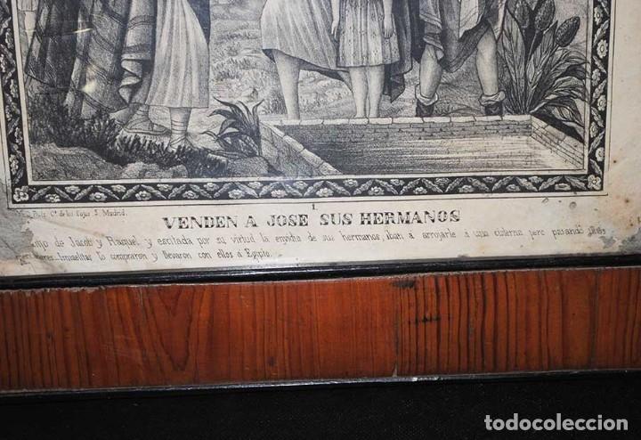 Arte: LÁMINA ANTIGUA RELIGIOSA CON MARCO DE MADERA - Foto 4 - 176719854