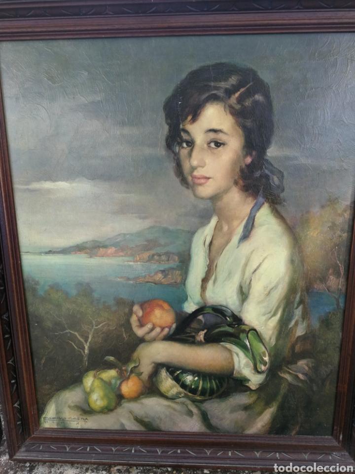 FRANCISCO RIBERA, CUADRO ANTIGUO 70 X 60 CM (Arte - Láminas Antiguas)