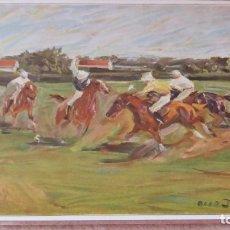 Arte: RECORTE ANTIGUO DE PRENSA O LÁMINA MONTADO SOBRE CARTONÉ A MODO DE POSTAL MANUFACTURADA. Lote 177727444