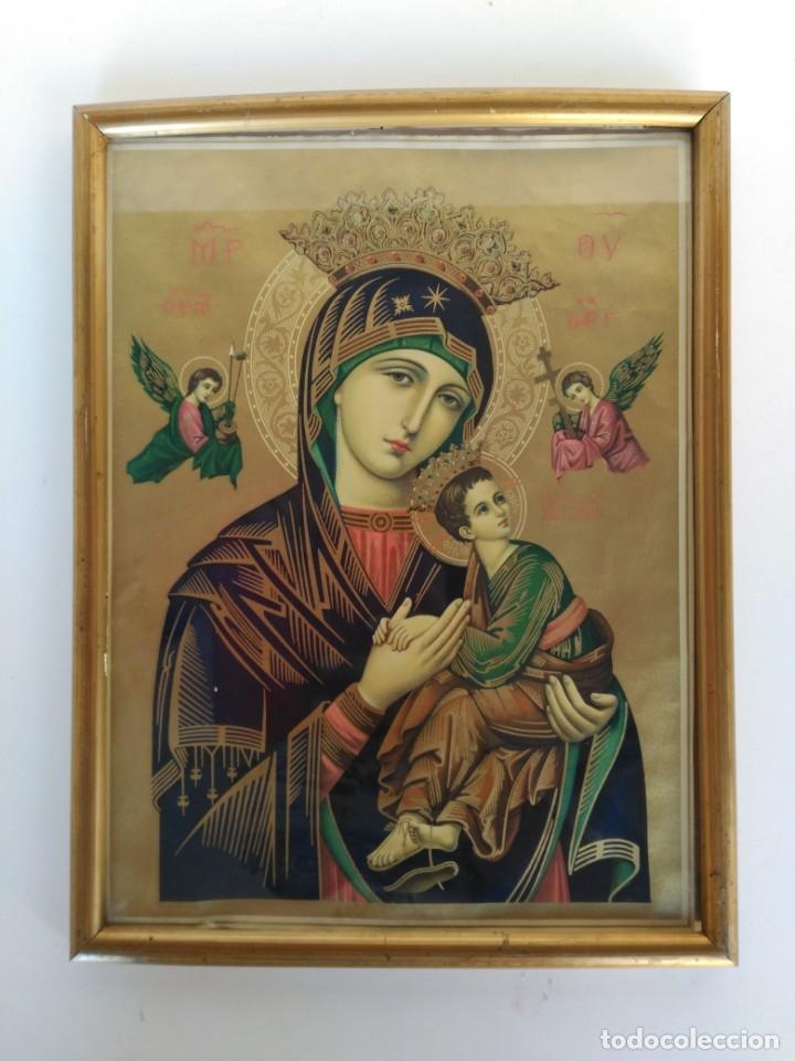 CUADRO VIRGEN DEL PERPETUO SOCORRO (Arte - Láminas Antiguas)