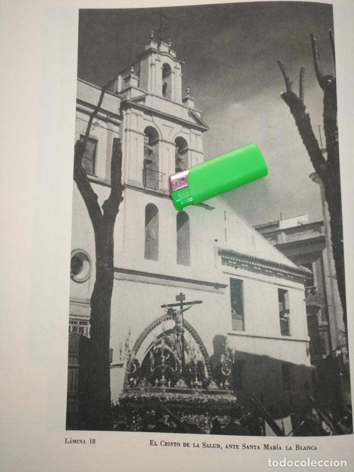 Arte: lamina huecograbado sevilla a dos caras - semana santa - virgen de la macarena y cristo de la salud - Foto 2 - 178145278