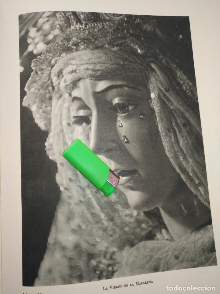 LAMINA HUECOGRABADO SEVILLA A DOS CARAS - SEMANA SANTA - VIRGEN DE LA MACARENA Y CRISTO DE LA SALUD (Arte - Láminas Antiguas)