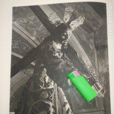Arte: LAMINA HUECOGRABADO SEVILLA A DOS CARAS - SEMANA SANTA - CRISTO DEL VALLE / VIRGEN CONVENTO TRINIDAD. Lote 178146022
