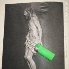 Arte: LAMINA HUECOGRABADO SEVILLA A DOS CARAS - SEMANA SANTA - LA BOFETADA / CRISTO SANTO ENTIERRO. Lote 178148485