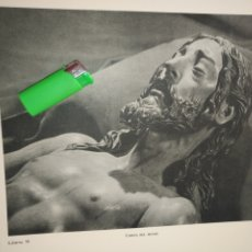 Arte: LAMINA HUECOGRABADO SEVILLA A DOS CARAS - SEMANA SANTA - CRISTO JESUS NAZARENO CRISTO SANTO ENTIERRO. Lote 178148529