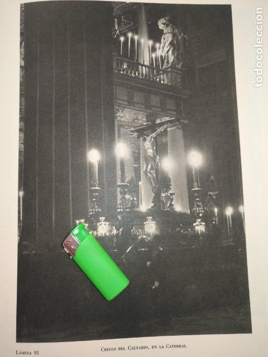 Arte: lamina huecograbado sevilla a dos caras - semana santa - virgen de la estrella / cristo del calvario - Foto 2 - 178149023
