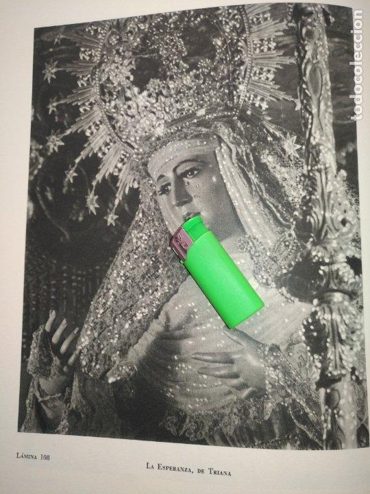 LAMINA HUECOGRABADO SEVILLA A DOS CARAS - SEMANA SANTA - VIRGEN ESPERANZA DE TRIANA / VIRGEN LORETO (Arte - Láminas Antiguas)