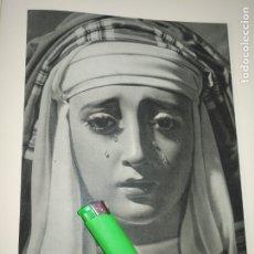Arte: LAMINA HUECOGRABADO SEVILLA A DOS CARAS - SEMANA SANTA - VIRGEN DE MONTSERRAT / DOLORES SAN VICENTE. Lote 178152010