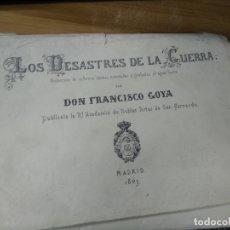 Arte: LOS CAPRICHOS Y LOS DESASTRES DE LA GUERRA DE GOYA, CARPETILLA CON 80 LAMINAS, 24 X 17 CM.. Lote 178222653