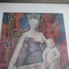 Arte: LAMINA JEAN FOUQUET LA VIRGE ET L´ENFANT ENTOURÉS DE SÉRAPHINS ET DE CHERUBINS ,VERS 1450.. Lote 178235136