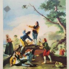 Arte: FRANCISCO DE GOYA - LA COMETA - ANTIGUA LAMINA PAPEL 24X34.CM APROX. Lote 179011376