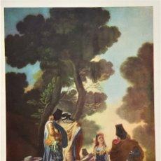 Arte: FRANCISCO DE GOYA - LA MAJA Y LOS EMBOZADOS - ANTIGUA LAMINA PAPEL 24X34.CM APROX. Lote 179011668