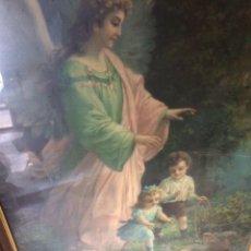 Arte: ANTIGUO CUADRO RELIGIOSO(LAMINA)!. Lote 179040201