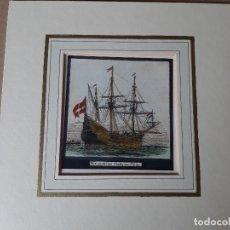 Arte: IMPRESION SIGLO XIX. AÑO 1851. PINTOR NAVAL ANTOINE LEON MOREL. 11X11 CENTÍMETROS APROX.. Lote 179221028