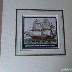 Arte: IMPRESION SIGLO XIX. AÑO 1851. PINTOR NAVAL ANTOINE LEON MOREL. 11X11 CENTÍMETROS APROX.. Lote 179221375