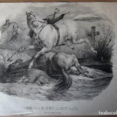 Arte: IMPRESIÓN ANTIGUA DE LA CABALLERIA. AÑO DESCONOCIDO. 47X34 CENTÍMETROS . Lote 179222437