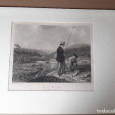 Arte: IMPRESIÓN ANTIGUA DE PESCA. AÑO 1860 26X18 CENTÍMETROS. Lote 179242103