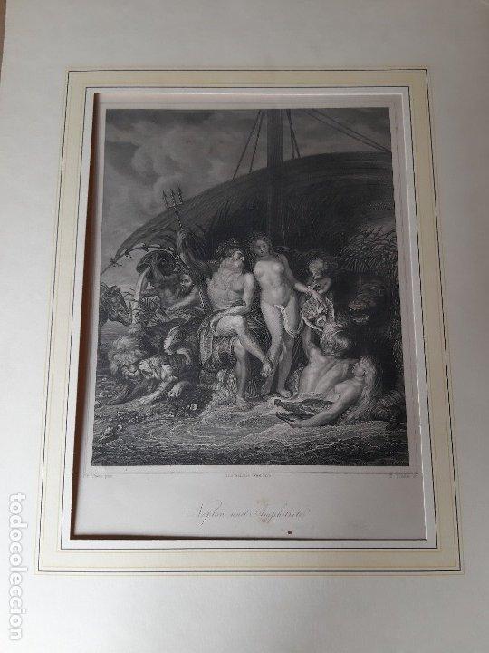 IMPRESIÓN ANTIGUA MARÍTIMA. AÑO 1850 21X28 CENTÍMETROS (Arte - Láminas Antiguas)