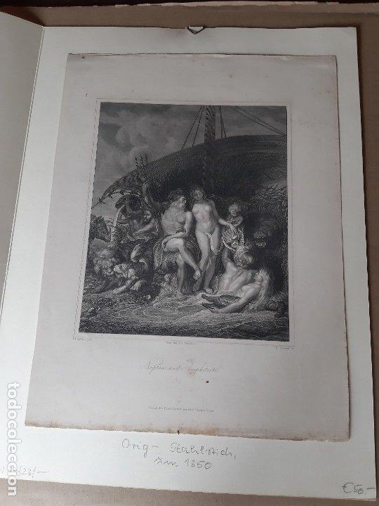 Arte: IMPRESIÓN ANTIGUA MARÍTIMA. AÑO 1850 21x28 CENTÍMETROS - Foto 2 - 179242302