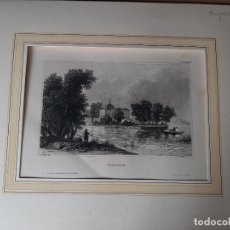 Arte: IMPRESIÓN ANTIGUA DE PESCA. AÑO 1850. 25X18CENTÍMETROS. Lote 179242720