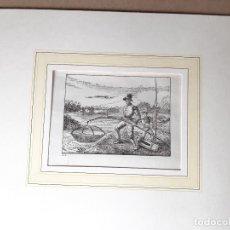 Arte: IMPRESIÓN ANTIGUA DE PESCA. AÑO 1842. 12X9 CENTÍMETROS. Lote 179242967