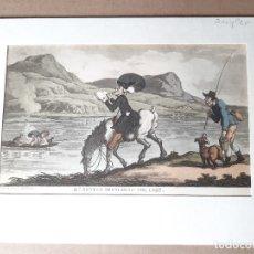 Arte: IMPRESIÓN ANTIGUA DE PESCA. AÑO 1817. 20X13 CENTÍMETROS. Lote 179243347