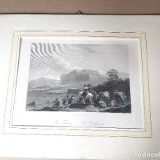 Arte: IMPRESIÓN ANTIGUA DE PESCA. AÑO 1850. 28X22 CENTÍMETROS. Lote 179243508
