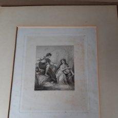 Arte: IMPRESIÓN ANTIGUA DE PESCA SIGLO XIX. 13X17 CENTÍMETROS. Lote 179243775