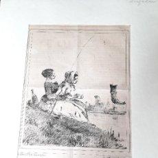 Arte: IMPRESIÓN ANTIGUA DE PESCA AÑO 1851. 25X34 CENTÍMETROS. Lote 179246116