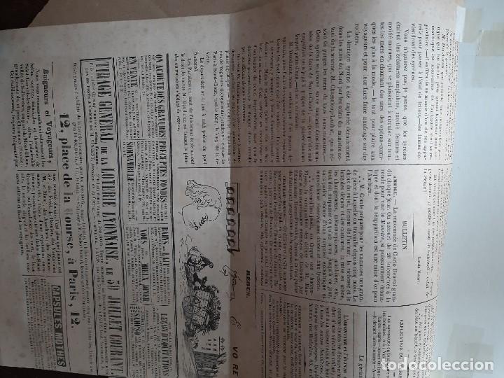 Arte: IMPRESIÓN ANTIGUA DE PESCA AÑO 1851. 25X34 CENTÍMETROS - Foto 2 - 179246116