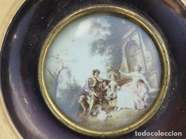 Arte: MINIATURA LÁMINA ESCENA FAMILIAR. - Foto 3 - 180196013