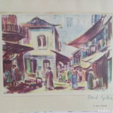 Arte: DAVID GILBOA / IN MEA SHEARIM - LAMINA FIRMADA 29,5/23CM. Lote 180256623