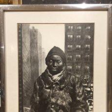 Arte: LAMINA DE DIBUJO CASTELAO EN NUEVA YORK TIENE FIRMA QUE EN FOTO NO SE VE. Lote 180279660