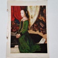 Arte: HUGO VAN DER GOES 1440-1482 LAMINA PAPEL - 23 X 34.CM APROX. Lote 181189302
