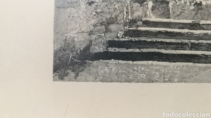 Arte: Lamina grabado Salamanca Parroquia de San Martin - Foto 3 - 181403652