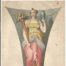 Arte: ANTIGUA LÁMINA - ALEGORIA TERRESTRE - 1829. Lote 182176483