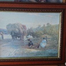 Arte: CUADRO ESCENA DE CAMPO.REPRODUCCIÓN HOUSE OF ART.. Lote 182330585