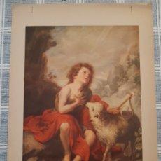 Arte: LÁMINA SAN JUAN BAUTISTA, MURILLO. JUAN BARGUÑÓ Y CIA. 33 X 24 CM.. Lote 182416242