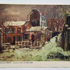 Arte: MAURICE UTRILLO 1883-1955 LE LAPIN AGILE LAMINA DE PAPEL - 17.5 X 22.CM. Lote 182884458