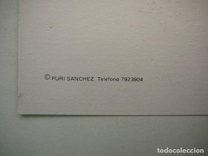 Arte: Lote 23 postales con la temática Castilla de la Pintora Puri Sánchez Años 80 - Foto 12 - 182910616