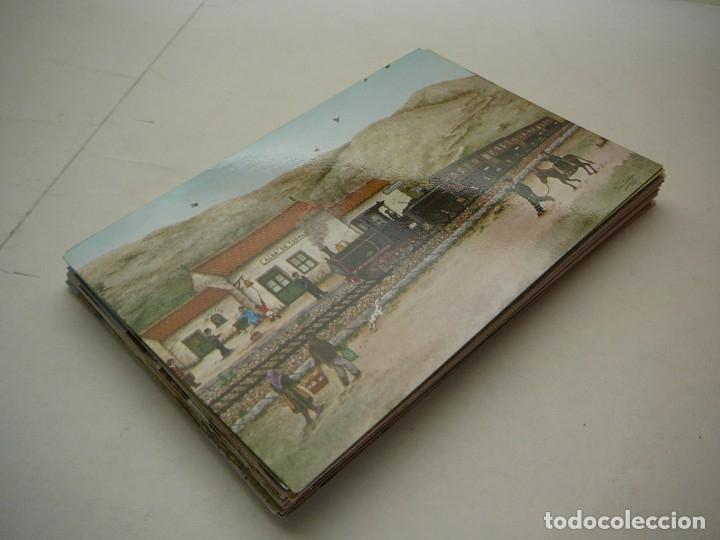 Arte: Lote 23 postales con la temática Castilla de la Pintora Puri Sánchez Años 80 - Foto 19 - 182910616