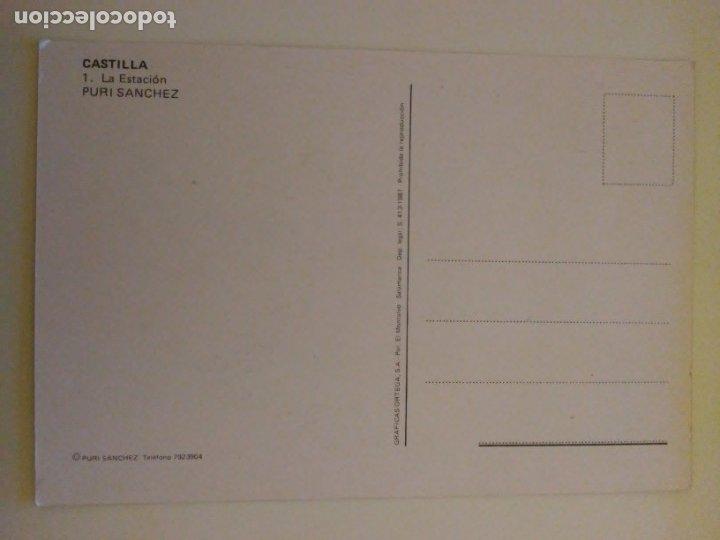 Arte: Lote 23 postales con la temática Castilla de la Pintora Puri Sánchez Años 80 - Foto 10 - 182910616