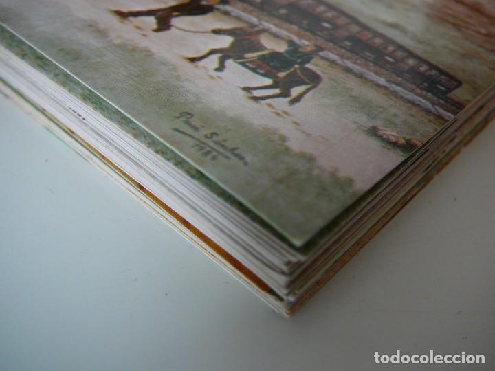 Arte: Lote 23 postales con la temática Castilla de la Pintora Puri Sánchez Años 80 - Foto 16 - 182910616