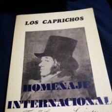 Arte: LOS CAPRICHOS, FRANCISCO GOYA. FACSÍMIL 1983. CARPETA QUE CONTIENE 80 LÁMINAS 24X17 CM.. Lote 183039348