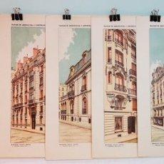 Arte: SIETE LÁMINAS ORIGINALES,TRATADO DE ARQUITECTURA Y CONSTRUCCIONES MODERNAS DE DOMENÉC SUGRAÑÉS,1916. Lote 183201976