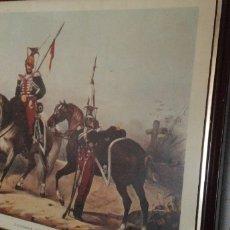 Arte: ANTIGUO LOTE DE CUADROS DE LÁMINAS DEL EJÉRCITO. Lote 183489831