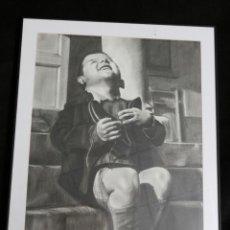 Arte: LAMINA DE NIÑO SONRIENDO, ESTILO CARBONCILLO, 80X60 CM ENMARCADA. Lote 183492076